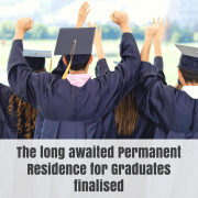 The long awaited Permanent Residence for Graduates finalised-2(1)