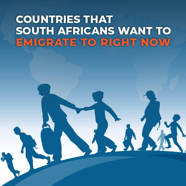 Countries South African Emigrate to.
